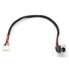 Разъем питания для ноутбука Lenovo IdeaPad B460, B460A, B460E, B460G, B465, B560, V460, V460A, V465, V560, Y460, Y460A, Y460N, Y460P, Y460T, Y560, Y560A, Y560D, Y560P, 50.4jw07.001, узкий разъем, с кабелем